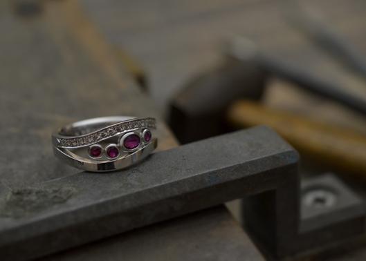 ルビーとダイヤモンドのリング