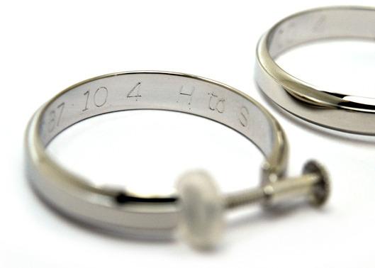 結婚30周年。リングのオーダーメイドとマリッジをイヤリングにリメイク。